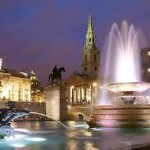Trafalgar Square on our London By Night Tour